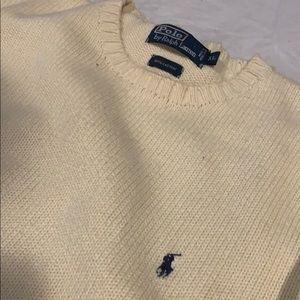 Polo by Ralph Lauren Cream knit crewneck sweater